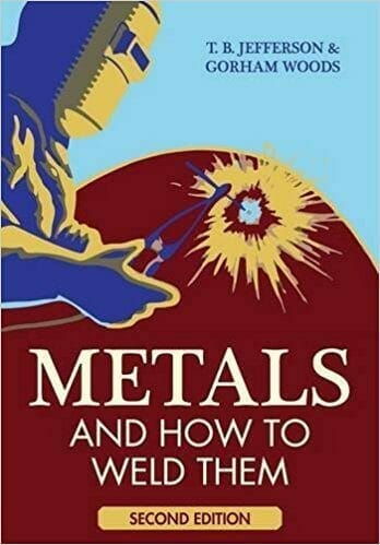 Metals and How To Weld Them Paperback 2nd Edition Cover, blue and red background