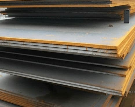 layered metal sheets with dust