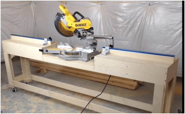 DIY Project A Sliding Miter Saw Stand